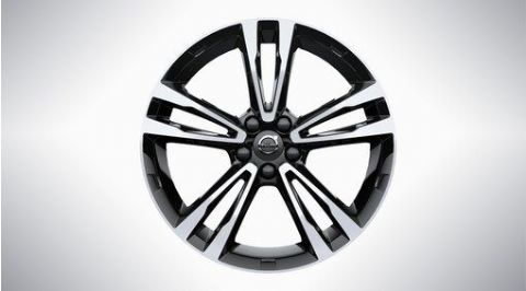 "XC60 19"" 5-Double Spoke Black Diamond Cut Alloy Wheel"